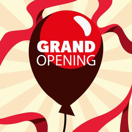 commercial grand opening balloon vector illustration design