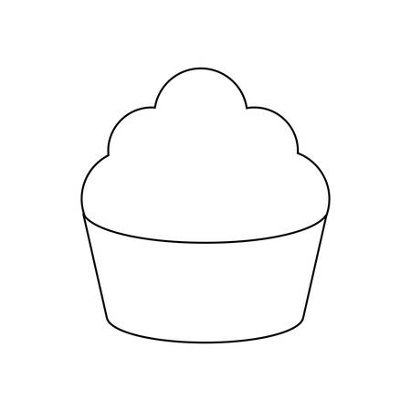 delicious sweet cupcakes pastry vector illustration design