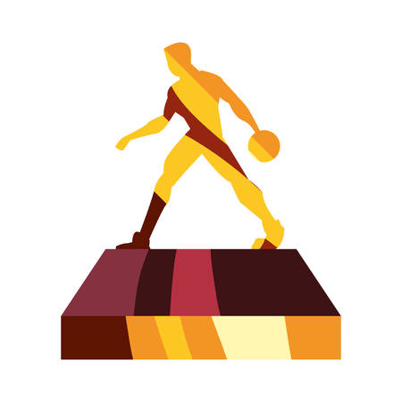 gold trophy player basketball award vector illustration Illustration
