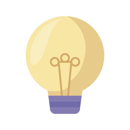light bulb isolated icon vector illustration design  イラスト・ベクター素材
