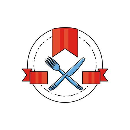 set cutleries isoated icon vector illustration design Çizim
