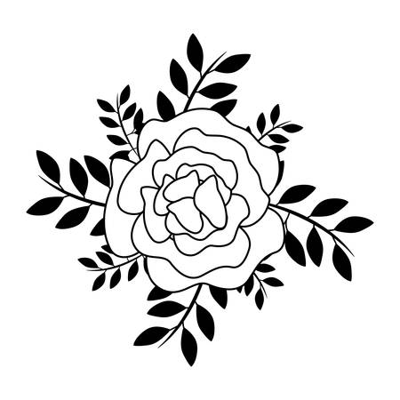 beautiful flower with leafs vector illustration design Illustration