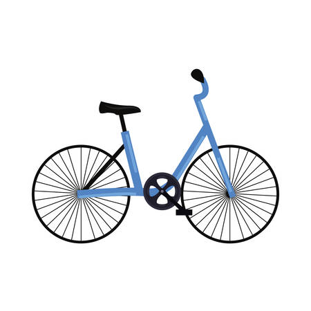 bicycle object icon on white background vector illustration Stock Illustratie
