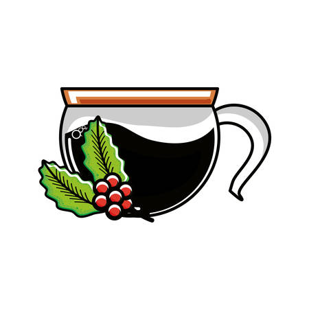teapot kitchen with plant of coffee vector illustration design
