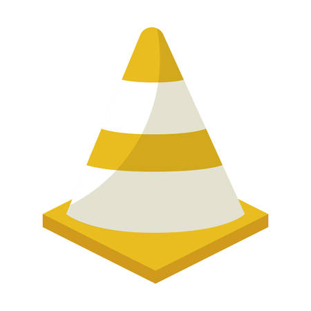 signaling cone isolated icon vector illustration design