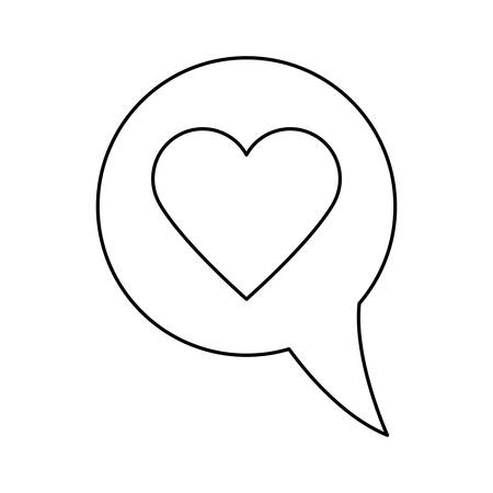 speech bubble with heart isolated icon vector illustration design