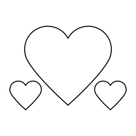 hearts love isolated icon vector illustration design