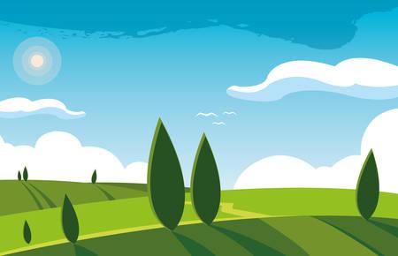 landscape nature scene icon vector illustration design