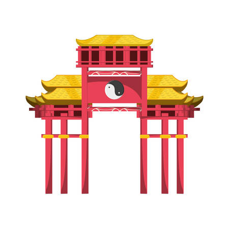 chinese portal isolated icon vector illustration design