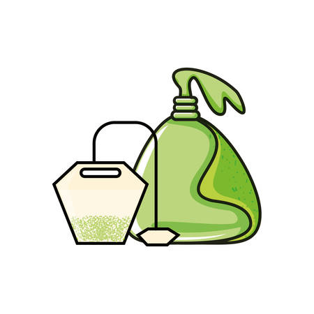 bags of tea herb isolated icon vector illustration design