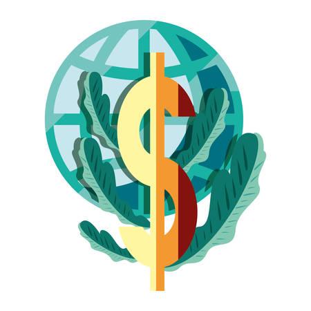 world dollar money business vector illustration design Фото со стока - 129641433