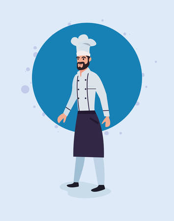chef man profession labour day vector illustration design Banque d'images - 129651303