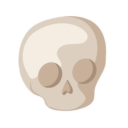 skull dead halloween isolated icon vector illustration design Stockfoto - 129525370