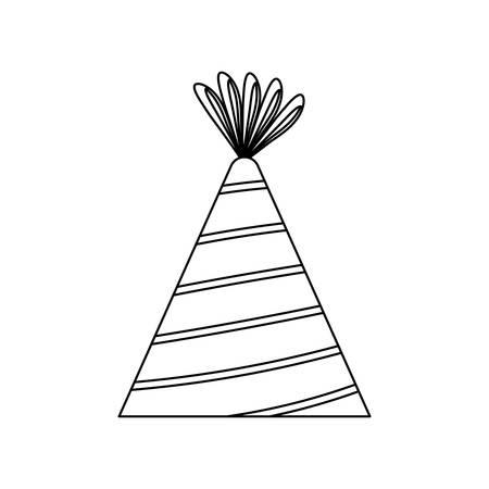hat party isolated icon vector illustration design Illusztráció