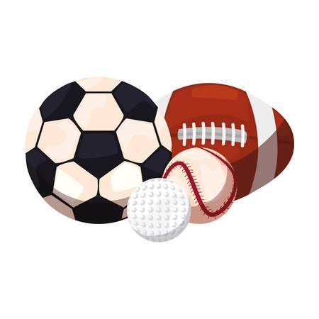 football baseball golf rugby ball sport vector illustration design