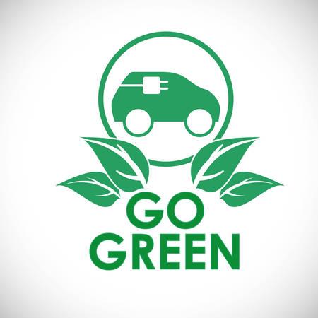 Go green digital design, vector illustration.