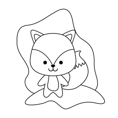 cute fox animal isolated icon vector illustration design