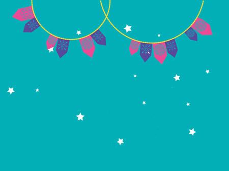 garlands party hanging icon vector illustration design Illusztráció