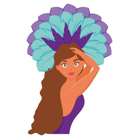 beautiful brazilian girl character vector illustration design