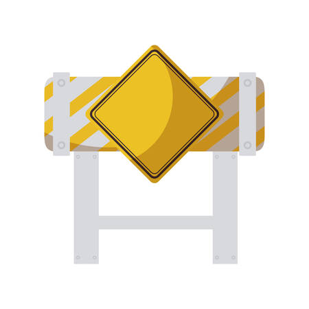 barricade with signaling isolated icon vector illustration design