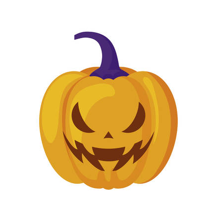 halloween pumpkin traditional isolated icon vector illustration design Stockfoto - 129657001