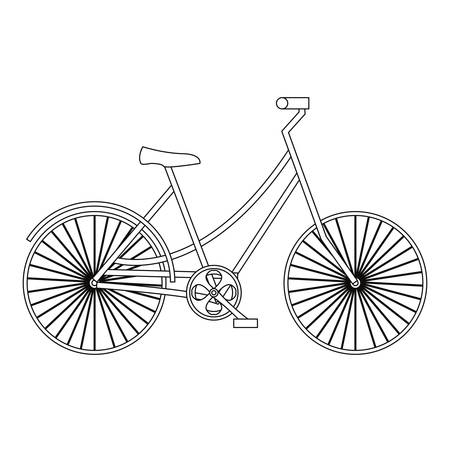 outline bicycle transport on white background vector illustration Çizim