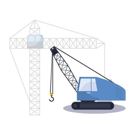 under construction excavator vehicle vector illustration design Foto de archivo - 129527746