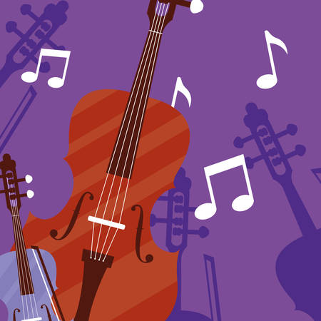 fiddle instrument musical icon vector illustration design Banque d'images - 129528032