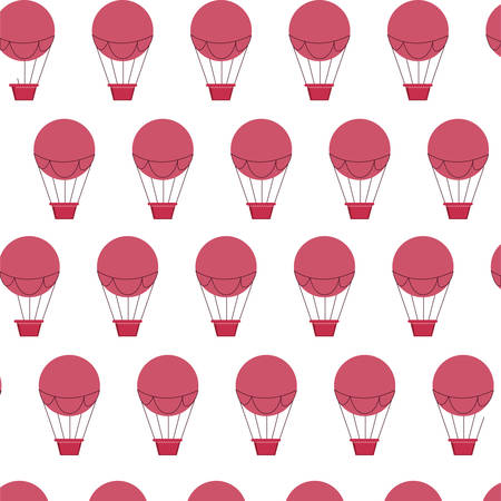 balloons air hot flying pattern vector illustration design Foto de archivo - 129528410
