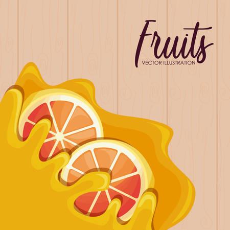 pattern of fresh oranges sliced fruit vector illustration design