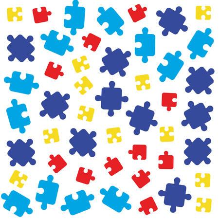 puzzles pieces connection background vector illustration design vector illustration