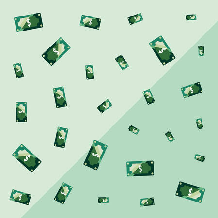 bank banknotes money currency background  vector illustration