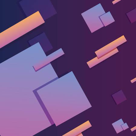 geometric background elements memphis style vector illustration