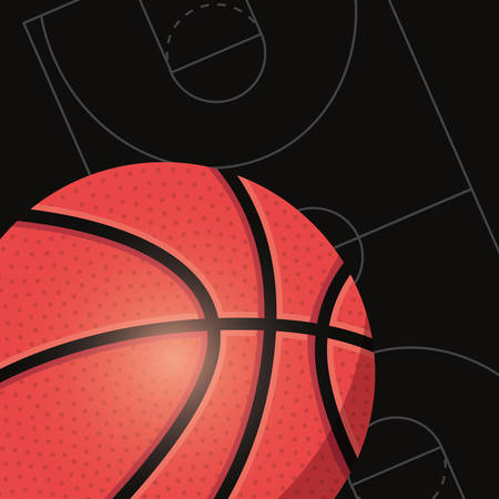 basketball sport ball sport emblem vector illustration 向量圖像
