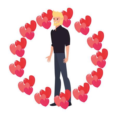 Papa couronne amour coeurs célébration heureuse fête des pères vector illustration