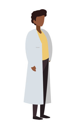 male black doctor professional character vector illustration design Ilustração