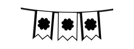 garlands hanging party saint patricks day vector illustration design
