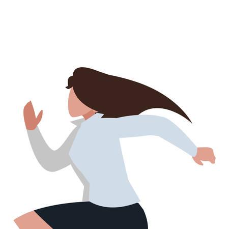 elegant businesswoman running character vector illustration design