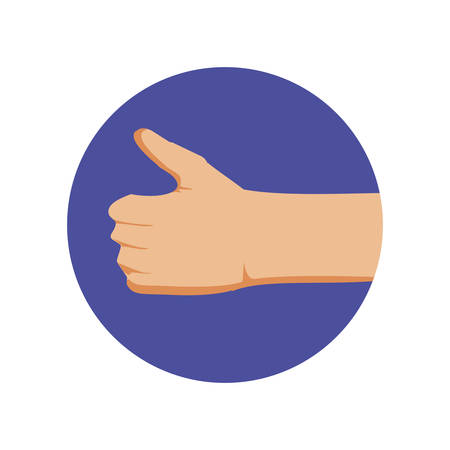 hand ok symbol isolated icon vector illustration design 일러스트