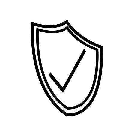 security shield isolated icon vector illustration design Stock Illustratie