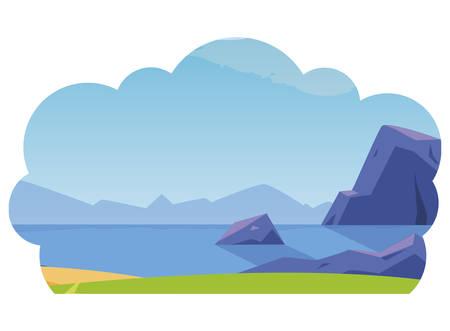 field camp landscape scene vector illustration design 矢量图像