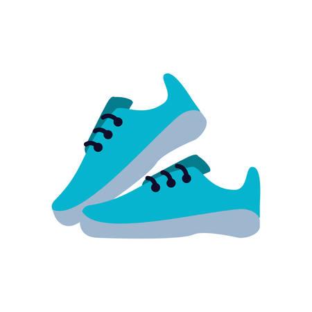 shoes runner tennis isolated icon vector illustration design Ilustracja