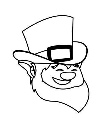 saint patrick lemprechaun head character vector illustration design