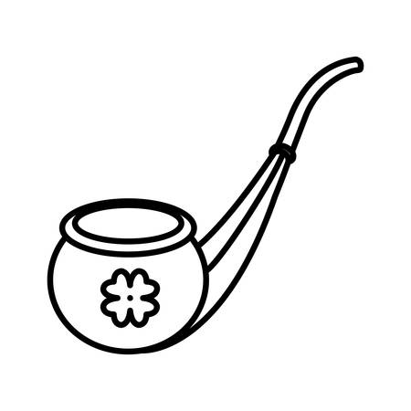 saint patrick pipe wooden vector illustration design