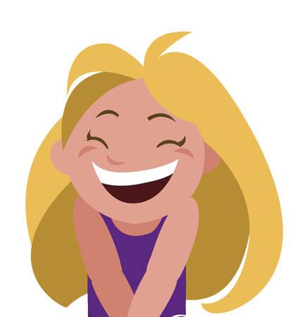 happy little girl character vector illustration design Ilustração