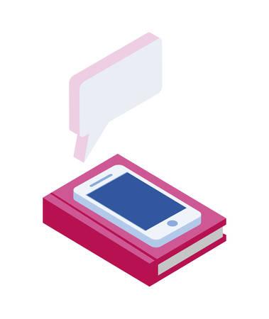 smartphone with speech bubbles vector illustration design