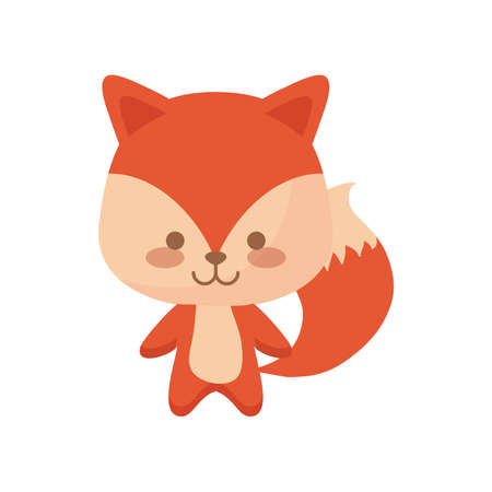 cute fox animal character vector illustration design Ilustração