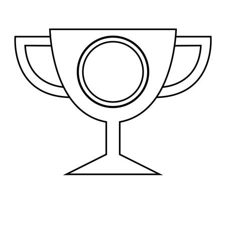 trophy cup championship icon vector illustration design
