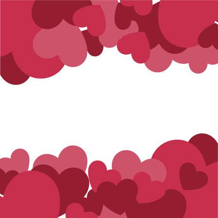hearts love pattern icons vector illustration design  イラスト・ベクター素材