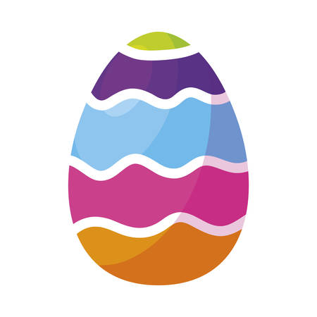 happy easter egg painted vector illustration design